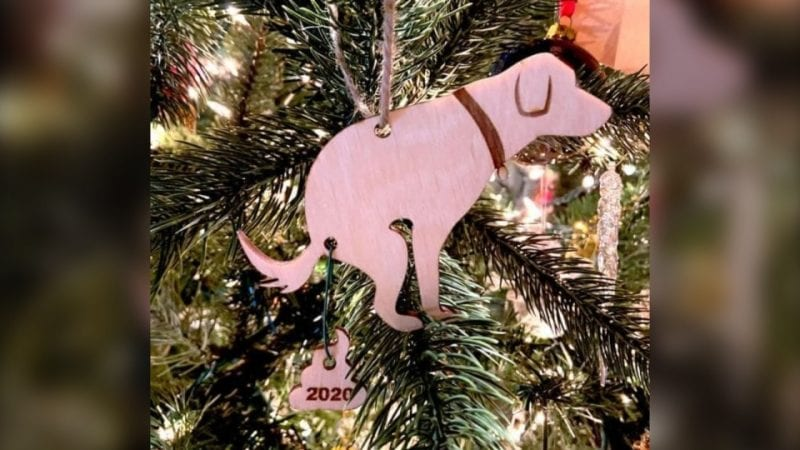 B.C. woman's dog poop Christmas ornament sums up 2020 for many