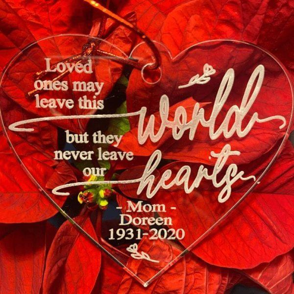 Heart Memorial Engraved Ornament