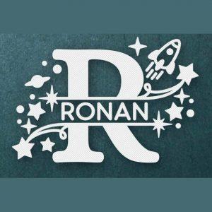 Baby Name Split Monograms - Rocket