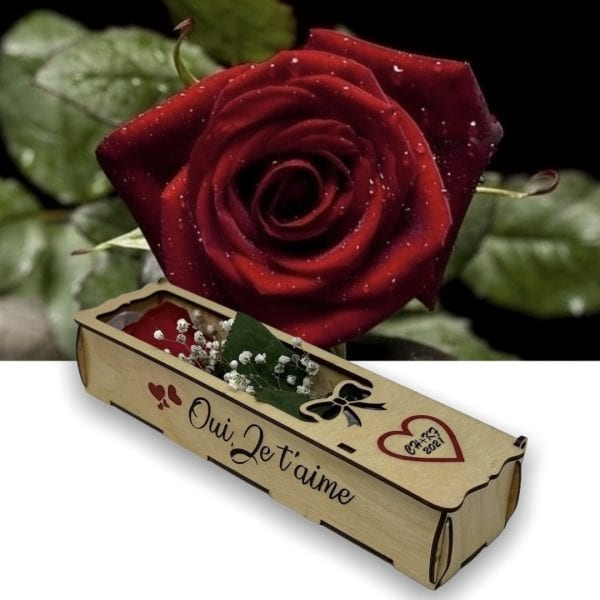 Deluxe Rose Box with Personalization