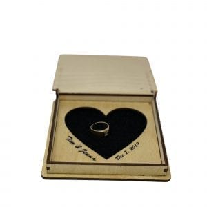Valentines Ring Box with Personalization