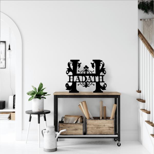 Flower Split Font Family Monogram