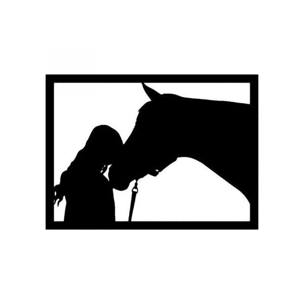 Horse & Girl Wall Art