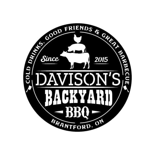Family Backyard BBQ Sign