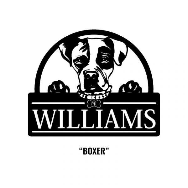 Boxer Dog Name Sign