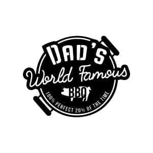 Dad's World Famous BBQ Sign