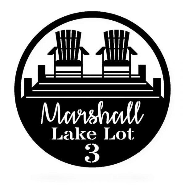 Lake Lot Sign