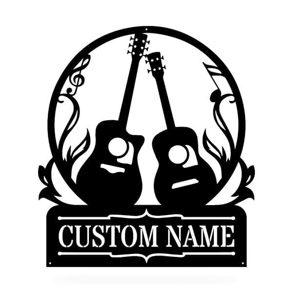 Two Guitar Family Sign