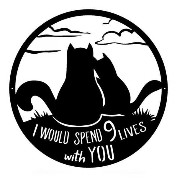 Cats Nine Lives Wall Art