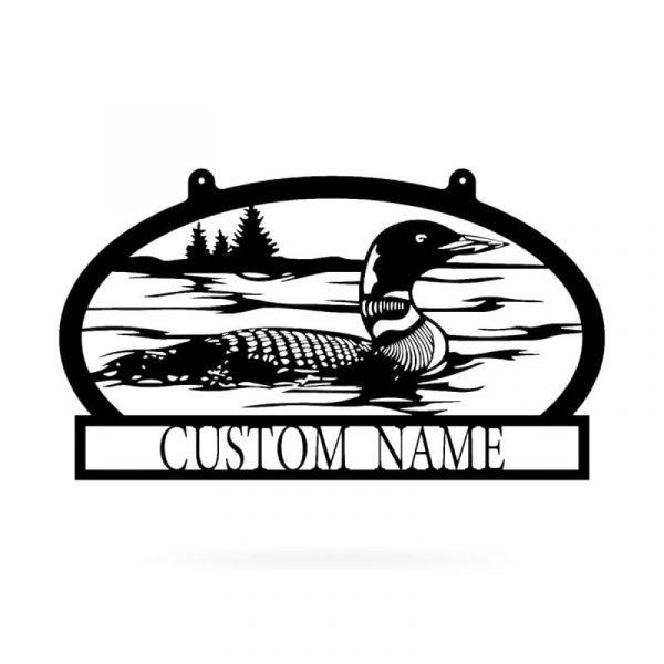 Duck Lake Name Sign