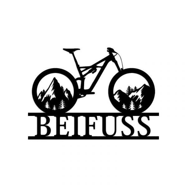 Bike Name Wall Art