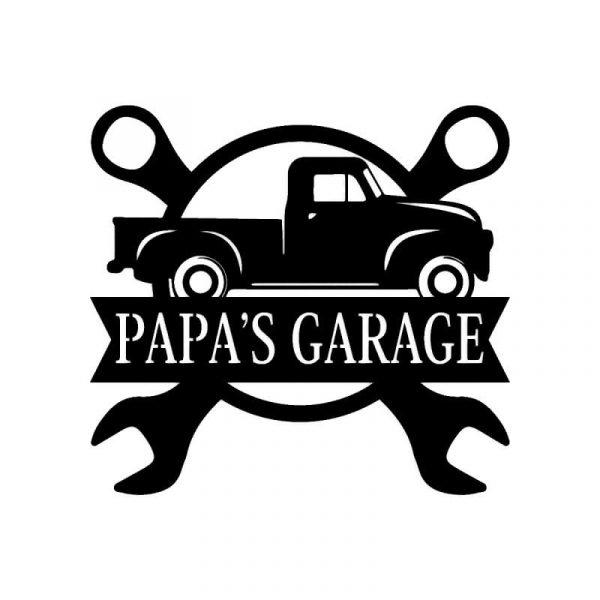 Car Garage Name Sign
