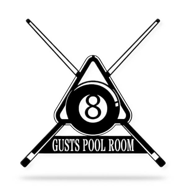 Billiards Room Name Sign