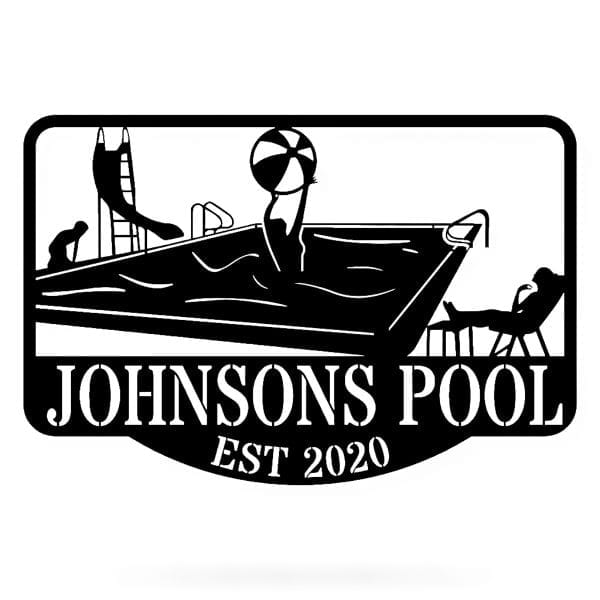 Family Pool Sign