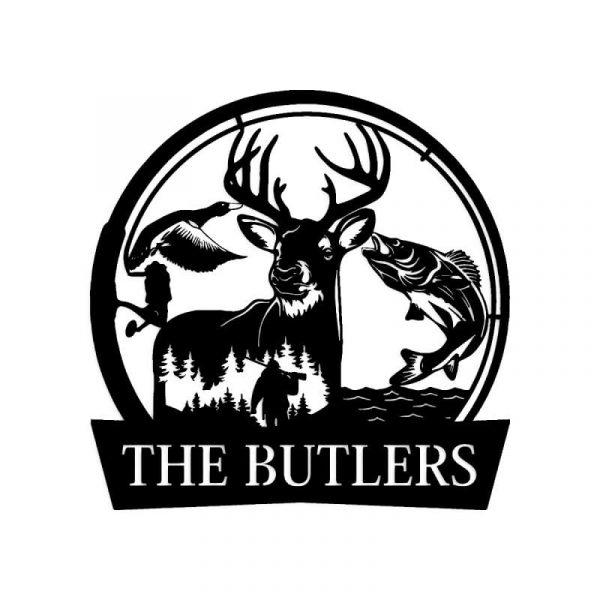 Hunters Name Sign