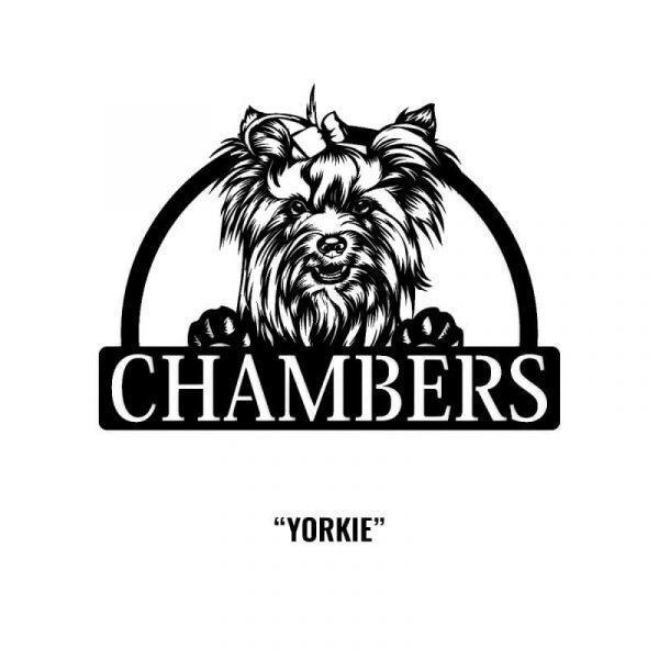 Yorkie Dog Name Sign